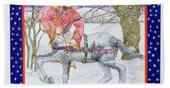 Sagittarius Wc On Paper Beach Sheet by Catherine Bradbury
