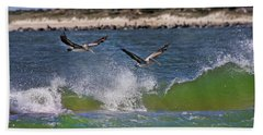 Scouting For A Catch Beach Towel by Betsy Knapp