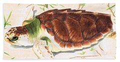 Sea Turtle Art By Sharon Cummings Beach Towel by Sharon Cummings
