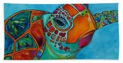 Seaglass Sea Turtle Beach Towel by Patti Schermerhorn