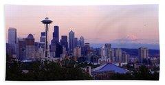 Seattle Dawning Beach Sheet by Chad Dutson
