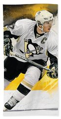 Sidney Crosby Artwork Beach Sheet by Sheraz A
