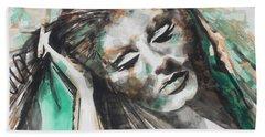 Singer Adele 01 Beach Towel by Chrisann Ellis