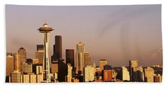 Skyline, Seattle, Washington State, Usa Beach Towel by Panoramic Images