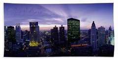 Skyscrapers, Chicago, Illinois, Usa Beach Towel by Panoramic Images