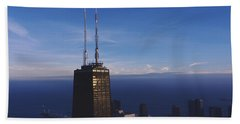 Skyscrapers In A City, Hancock Beach Towel by Panoramic Images