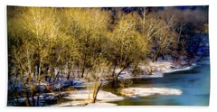 Snowy River Beach Towel by Karen Wiles