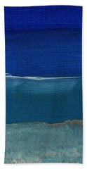 Soft Crashing Waves- Abstract Landscape Beach Sheet by Linda Woods