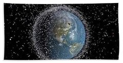 Beach Towel featuring the photograph Space Junk by Science Source