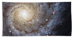 Spiral Galaxy M74 Beach Towel by Adam Romanowicz