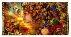 Spirit Of Autumn Beach Towel by Ciro Marchetti