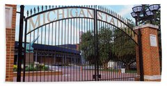 Stadium Of A University, Michigan Beach Sheet by Panoramic Images