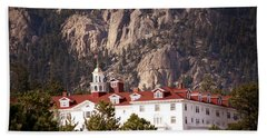 Stanley Hotel Estes Park Beach Towel by Marilyn Hunt