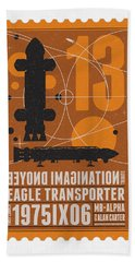 Starschips 13-poststamp - Space 1999 Beach Towel by Chungkong Art