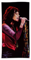 Steven Tyler In Aerosmith Beach Towel by Paul Meijering