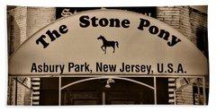 Stone Pony Enter Here Beach Sheet by Paul Ward