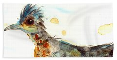 Stop And Smell What? Beach Towel by Dawn Derman