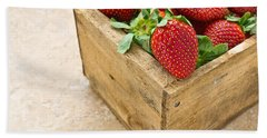 Strawberries Beach Towel by Edward Fielding
