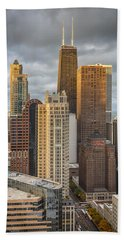 Streeterville From Above Beach Towel by Adam Romanowicz