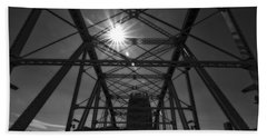 Summer Sun On Shelby Street Bridge Beach Sheet by Dan Sproul