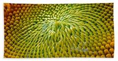 Sunflower  Beach Towel by Christina Rollo