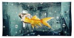 Sunken Palace Beach Towel by Juli Scalzi