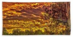 Sunset Navajo Tribal Park Canyon De Chelly Beach Sheet by Bob and Nadine Johnston