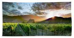 Wine Country Beach Towel by Jon Neidert