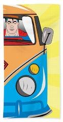 Superman 4 Beach Towel by Mark Ashkenazi