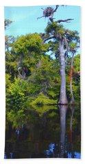 Swamp Land Beach Towel by Carey Chen