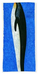 Tall Penguin Beach Towel by Brian James