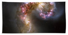 Tangled Galaxies Beach Towel by Adam Romanowicz