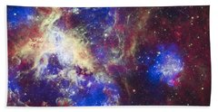 Tarantula Nebula Beach Towel by Adam Romanowicz