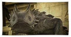Tcu Horned Frog Beach Towel by Joan Carroll