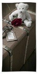 Teddy Wants To Travel Beach Towel by Joana Kruse