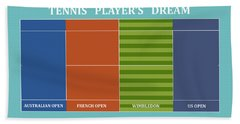 Tennis Player-s Dream Beach Sheet by Carlos Vieira