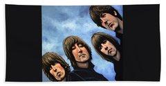 The Beatles Rubber Soul Beach Towel by Paul Meijering
