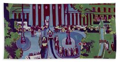 The Brandenburg Gate Berlin Beach Sheet by Ernst Ludwig Kirchner
