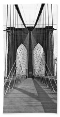 The Brooklyn Bridge Beach Towel by Underwood Archives