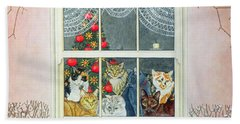The Christmas Mouse Beach Towel by Ditz