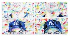 the CORE FOUR - watercolor portrait.1 Beach Towel by Fabrizio Cassetta