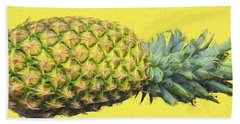 The Digitally Painted Pineapple Sideways Beach Sheet by David Haskett