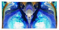 The Dragon - Visionary Art By Sharon Cummings Beach Towel by Sharon Cummings