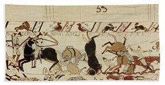 The Bayeux Tapestry Beach Sheet by French School