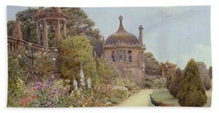 The Gardens At Montacute In Somerset Beach Towel by Ernest Arthur Rowe