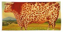 The Great Bull Beach Towel by Frances Broomfield
