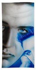 Elvis Presley - ' The King ' Beach Towel by Christian Chapman Art