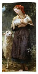 The Newborn Lamb Beach Sheet by William Bouguereau