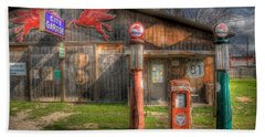The Old Service Station Beach Towel by David and Carol Kelly