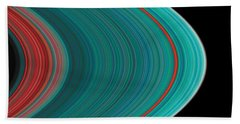 The Rings Of Saturn Beach Towel by Anonymous